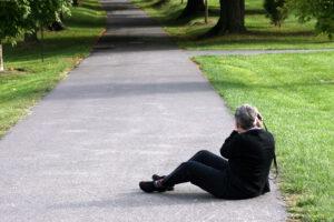Fotograaf op de grond hoort bij blog